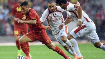 Бельгия минимально одолела Тунис