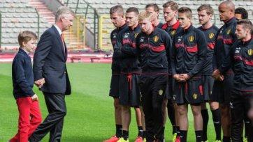 Король Филипп посетил тренировку сборной Бельгии