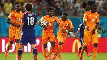 Кот-д'Ивуару хватило двух минут, чтобы вырвать победу у Японии