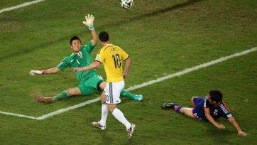 Колумбия громит Японию и выходит на Уругвай