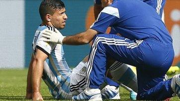 Серхио Агуэро пропустит остаток Чемпионата мира