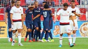 «Олимпиакос» уверенно переиграл «Милан»
