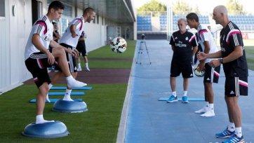 Хамес Родригес провел первую тренировку в «Реале»