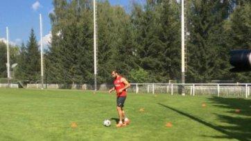Юра Мовсисян провел первую тренировку с мячом