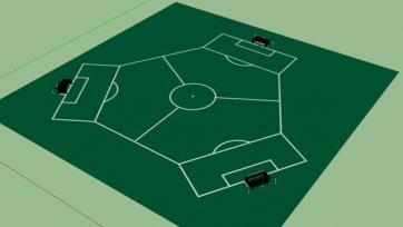 «Сообразим на троих». Футбольный матч с тремя командами на поле