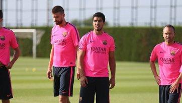Луис Суарес впервые вышел на поле в составе «Барселоны»