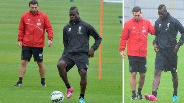 Балотелли провел первую индивидуальную тренировку в «Ливерпуле»