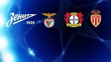 «Зенит» узнал соперников по групповому этапу Лиги чемпионов