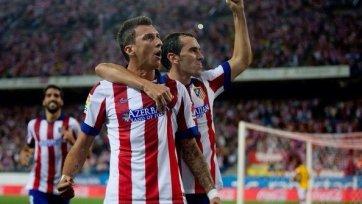 «Атлетико» не без труда обыгрывает «Эйбар»