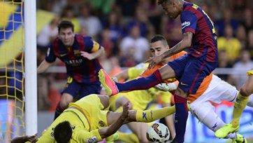 «Барселона» добилась трудовой победы на «Эль Мадригал»