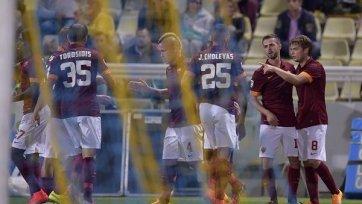 «Рома» одержала трудовую победу над «Пармой»