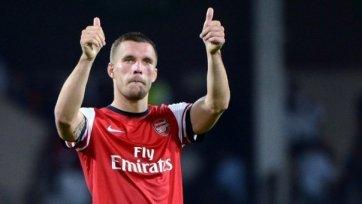 В «Арсенале» рассчитывают на Лукаса Подольски