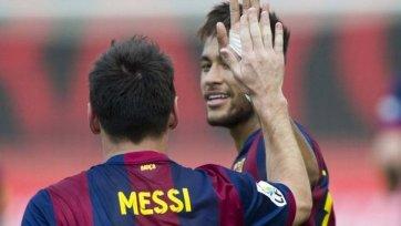 Неймар и Месси добыли «Барселоне» победу над «Райо Вальекано»