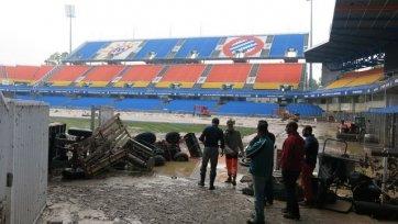 Стадион «Монпелье» пострадал от наводнения