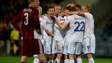 Исландцы разбили латышей