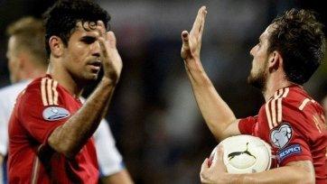 Диего Коста впервые забивает, Испания побеждает