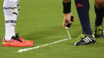 Спрей для разметки может появиться в российском футболе с марта 2015-го