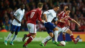 Роналду принес Португалии три очка в матче с датчанами