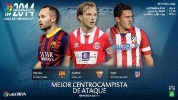 Стали известны претенденты на звание лучшего атакующего полузащитника Ла Лиги 2013/14