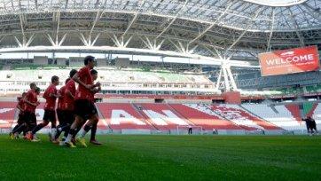 «Рубин» готовится к матчу против «Динамо» в обычном режиме