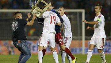 Албании присудили поражение в матче с Сербией, а с сербов сняли три очка