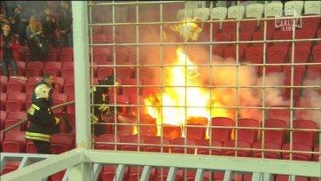 «Рубин» накажет болельщиков устроивших пожар на трибуне «Казань-Арены»