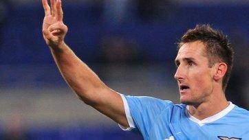 Клозе: «Лацио» ставит цель финишировать в зоне еврокубков»