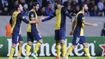 «Атлетико» закрепился на первом месте