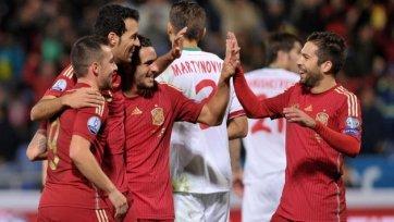 Испания ожидаемо выиграла у Беларуси