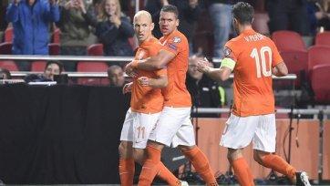 Голландия не заметила Латвию, отгрузив шесть безответных мячей