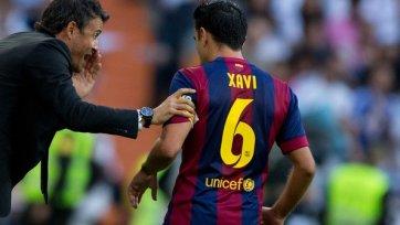 Хави: «Я остался в «Барселоне» из-за Луиса Энрике»