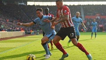 «Манчестер Сити» в меньшинстве обыграл «Саутгемптон»
