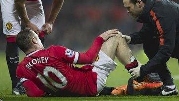 Руни травмировал колено и ждет результатов медицинского обследования