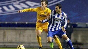 «Малага» добыла три очка в игре с «Депортиво»
