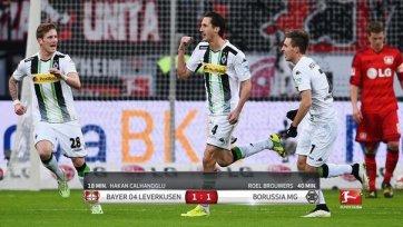 «Байер» и «Боруссия» поделили очки, отпустив «Вольфсбург» в отрыв