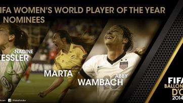 Надин Кесслер – лучшая футболистка мира