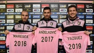 Васкес, Мареска и Анделкович продлили свои контракты с «Палермо»