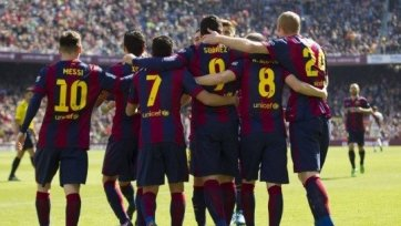 «Барселона» громит «Райо Вальекано» и выходит на первое место