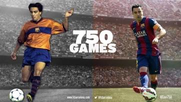 Чави Эрнандес сыграл 750-й матч в составе первой команды «Барселоны»