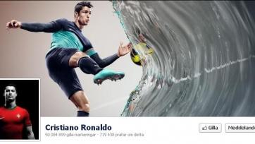 Криштиану Роналду опередил на facebook Шакиру