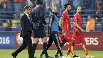 Игра Черногория-Россия вновь прервана