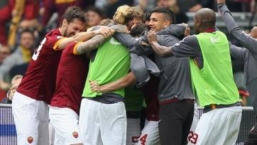 «Рома» празднует успех в игре с «Наполи»