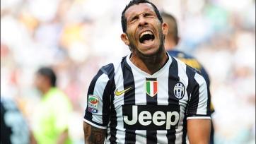 Карлос Тевес пропустит ответный матч Кубка Италии