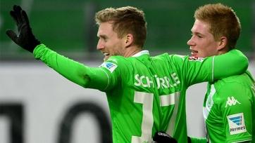 Де Брейне и Шюррле не помогут «Вольфсбургу» в ответной игре с «Наполи»