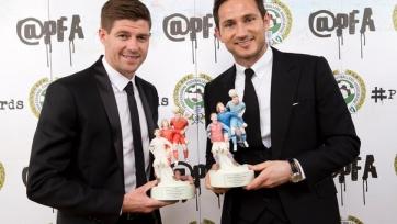 Лэмпард и Джеррард получили награды за заслуги перед английским футболом