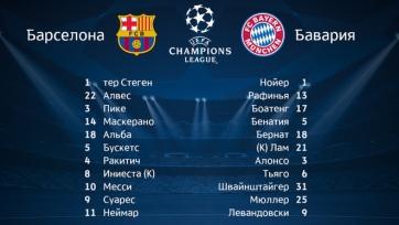 «Барселона» - «Бавария» - стали известны стартовые составы