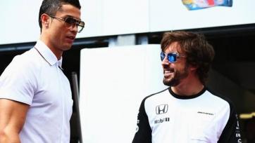 Криштиану Роналду посетил Гран-при Ф-1 в качестве представителя TAG-Heuer