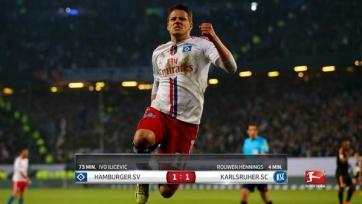 «Гамбург» с трудом ушел от поражения в матче с «Карлсруэ»