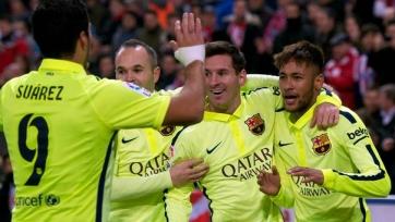 Иньеста: «Атакующее трио «Барселоны» не знает себе равных в мире»