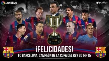 «Барселона» выиграла Королевский Кубок!